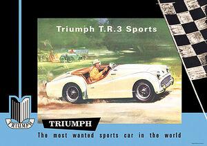 Triumph TR3 poster