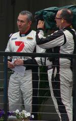 Mark Beretta and Seven Sport Cameraman Sydney 500 2011