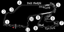 Watkins Glen International Track Map
