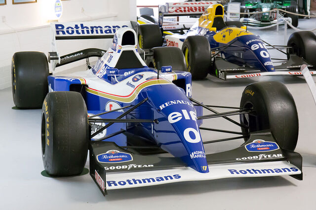 File:Williams FW16B and FW15C Donington Grand Prix Collection.jpg