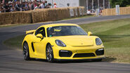 2015 Porsche Cayman GT4 on track