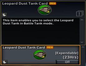 Leopard Dust Tank Card