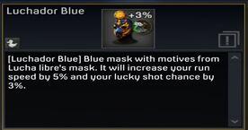 Luchador Blue mask description