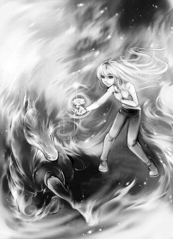 File:Kara gives Starfire the Blue Rose.jpg
