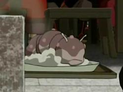 Smoked sea slug