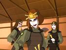 Suki and two Kyoshi Warriors