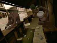 Hog monkeys wreak havoc
