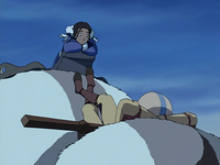 Katara and Aang chilling