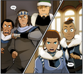 Sokka and Katara bump into Noa, Kam and Soonjei again.png