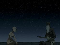 Pathik explaining to Aang