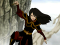 Azula hanging from a cliff.png