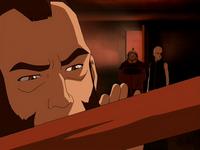 Zhao recognizing Zuko's sword