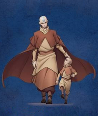 Aang and young Tenzin