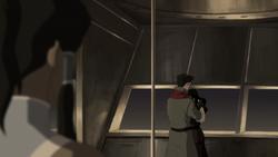 Asami embracing Mako in front of Korra
