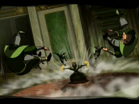 Kyoshi defeats Earth King's guards