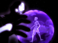 Aang and his cosmic Avatar Spirit