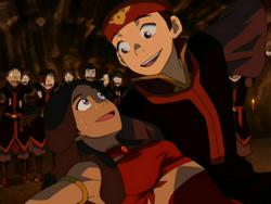 Katara and Aang dancing