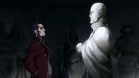 Bumi and Aang's statue