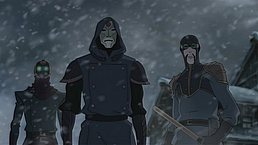 The Equalists watch Korra flee
