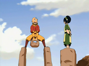 Toph teaches Aang