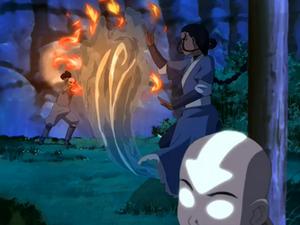 Katara and Zuko fight