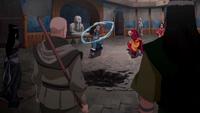 Red Lotus vs Kya, Tenzin, and Bumi