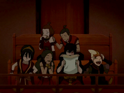 Team Avatar together at the theater