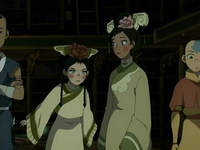 Angry dressed-up Toph
