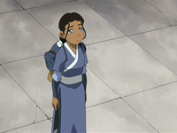 Katara says goodbye