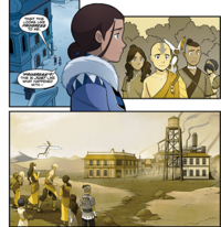 Katara thinking about the Earthern Fire refinery
