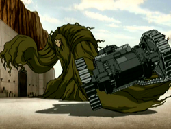 Swamp monster grabs a tank