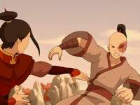 Zuko and Azula duel