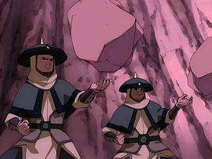Earthbending soldiers