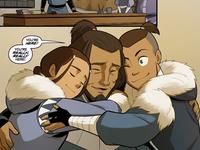 Hakoda and his children reunite