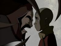 Koh yells at Aang