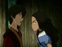 Katara threatens Zuko