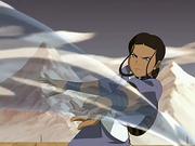 Katara fighting Mai