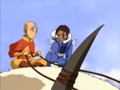 120px-Aang and Katara atop Appa