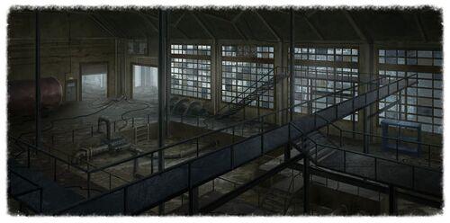 Demolished refinery