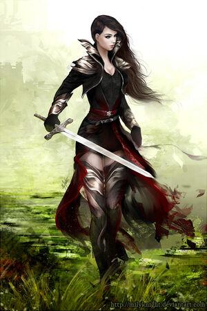 Lady knight by milyknight-d55vu7w