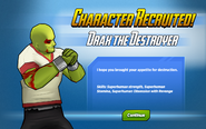 Character Recruited Drax the Destroyer