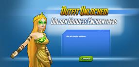 Outfit Unlocked! Golden Goddess Enchantress