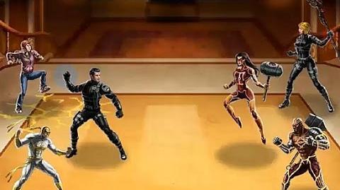 Puño de Hierro, Molly Halles y ANNHE, juntos en el PVP JCJ 21. Marvel Avengers Alliance