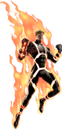 Annihilus Human Torch Portrait Art
