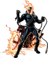 Ghost Rider Right Portrait Art
