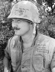 Vietnam soldier graffiti