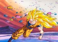 Super Saiyan 3 Goku While Fighting Janemba