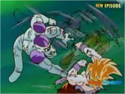 Super Saiyan Goku Fighting Frieza
