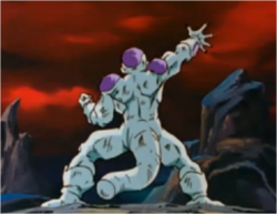 Frieza Controlling his Energy Disk to Chase Goku
