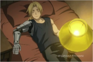 Edward Elric Talking to Winry While Getting his Automail Adjusted